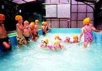 青木保育園 プール遊び